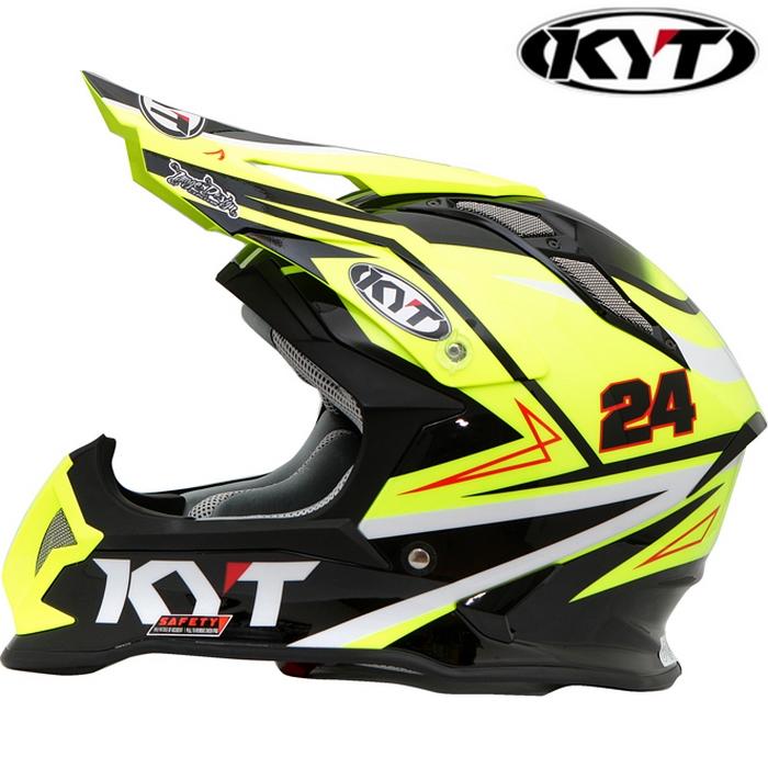 KYT 〔WEB価格〕【STRIKE EAGLE】 シンプソンレプリカ イエロー グラフィックモデル オフロードヘルメット