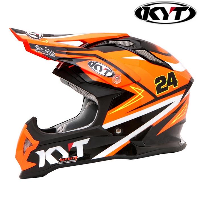 KYT 〔WEB価格〕【STRIKE EAGLE】 シンプソンレプリカ オレンジ グラフィックモデル オフロードヘルメット