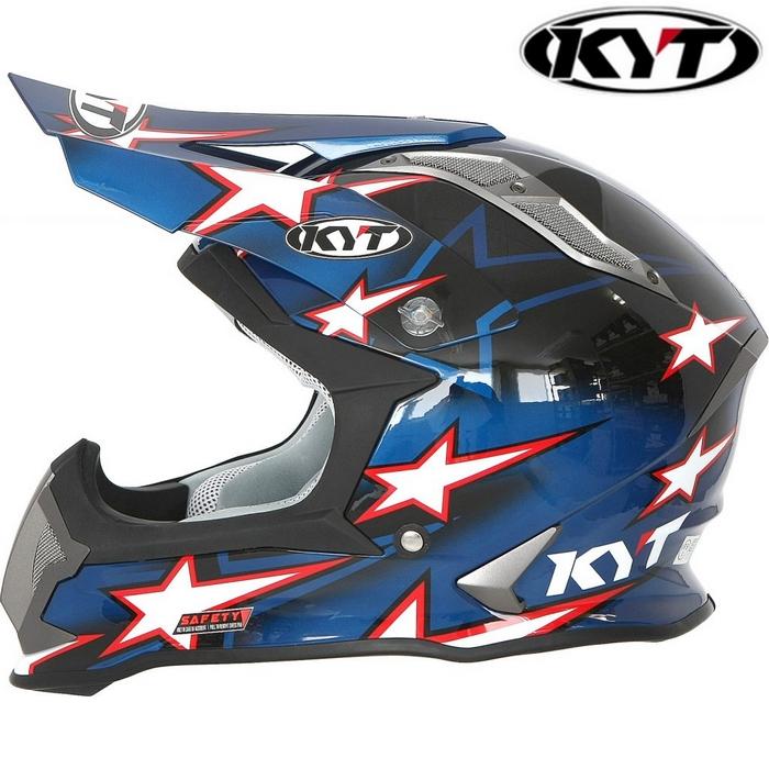 KYT 【STRIKE EAGLE】 ロマン・フェーブル スターブルー レプリカ オフロードヘルメット