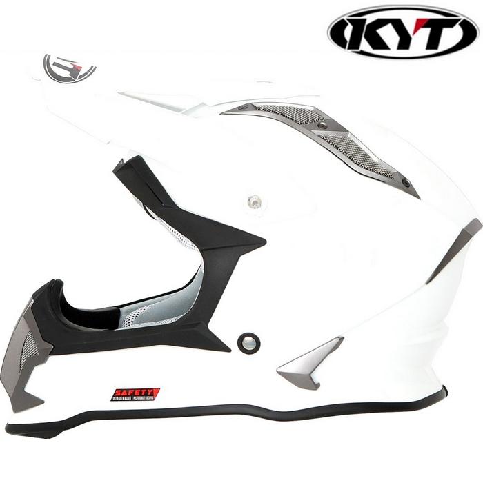 KYT 【STRIKE EAGLE】ソリッドホワイト オフロードヘルメット