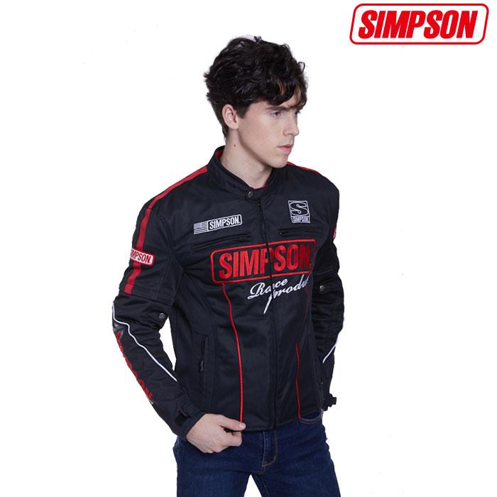 SIMPSON 〔WEB価格〕NSM-2004 メッシュジャケット春夏用 レッド◆全4色◆