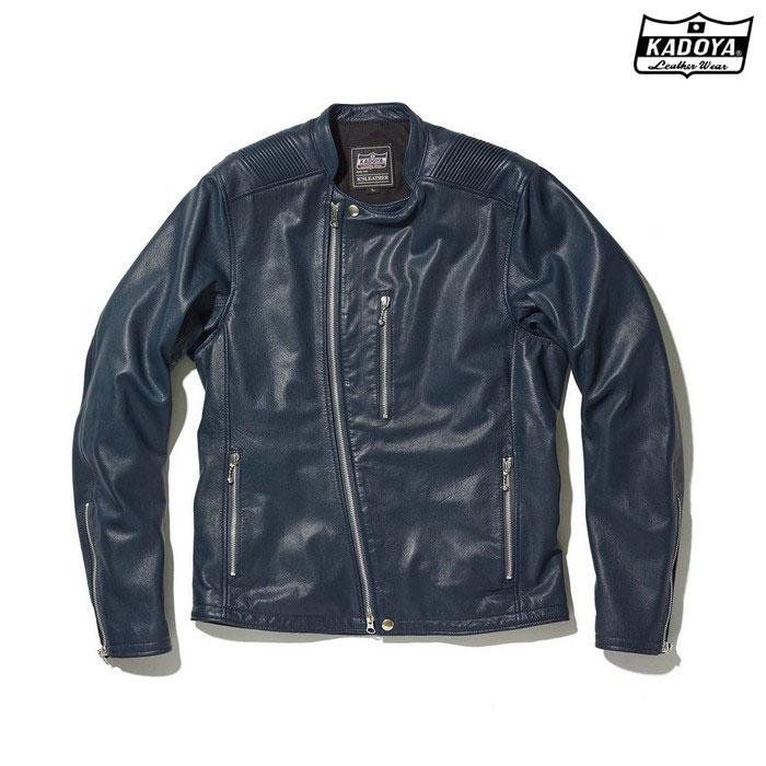 KADOYA (大きいサイズ)1186 レザージャケット ATLAS 『アトラス』 ネイビー ◆全4色◆
