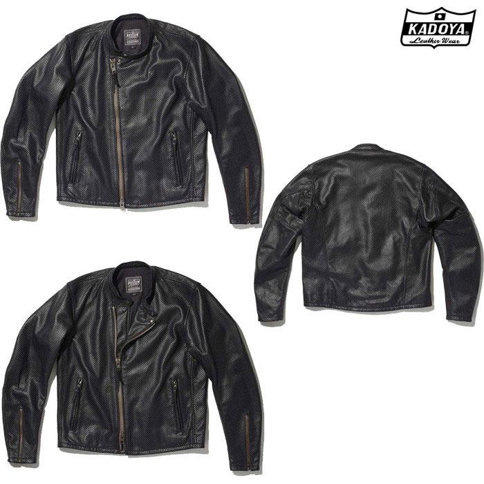KADOYA 1305 PL-SW レザージャケット(大きいサイズ) ブラック ◆全2色◆