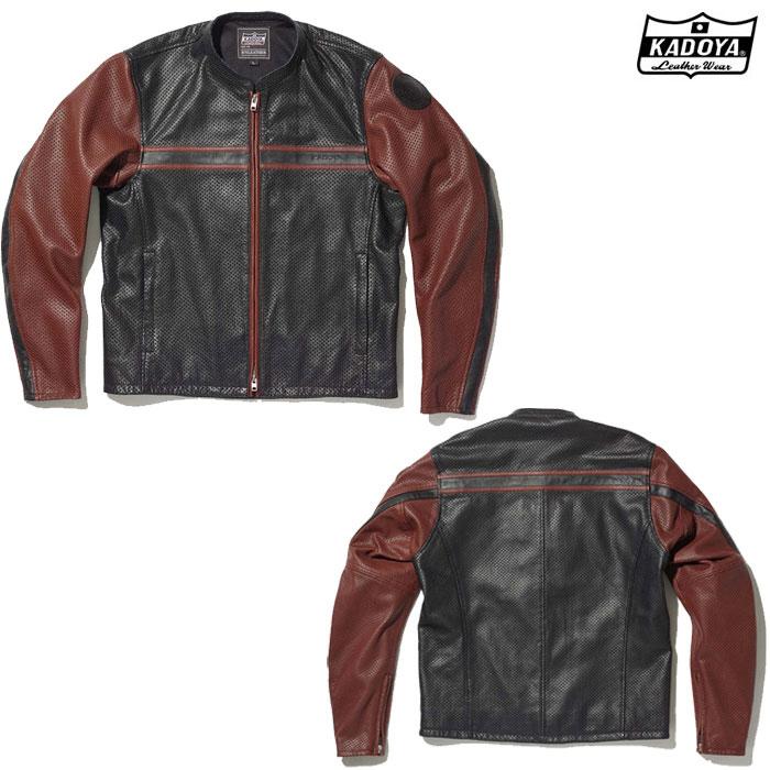 KADOYA 1304 PL-SUNTAILOR レザージャケット ブラック/ブラウン ◆全2色◆