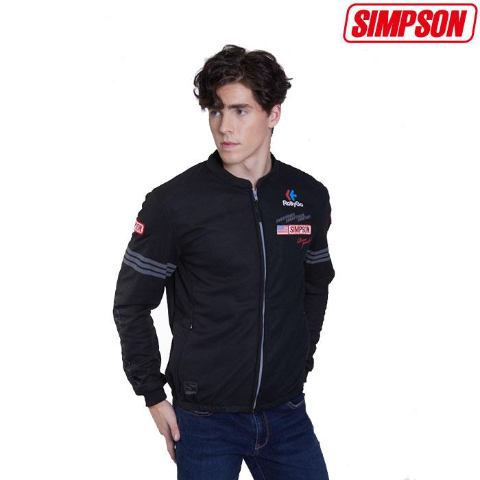SIMPSON 〔WEB価格〕★新作★NSM-2020LTD メッシュジャケット 春夏用 ブラック◆全4色◆