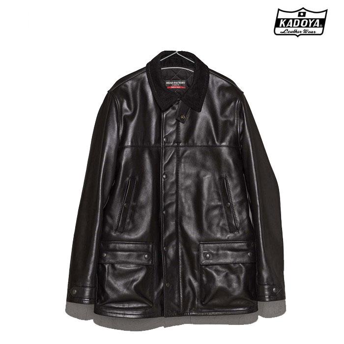 KADOYA (大きいサイズ) 0825 BLACK BIRD レザージャケット