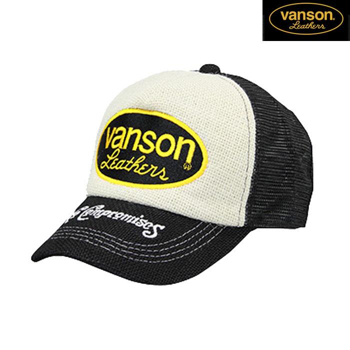 VANSON VS20701S メッシュキャップ 春夏用 ブラック/ホワイト◆全3色◆