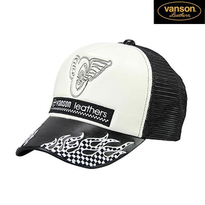 VANSON VS20702S メッシュキャップ 春夏用 ブラック/ホワイト◆全3色◆