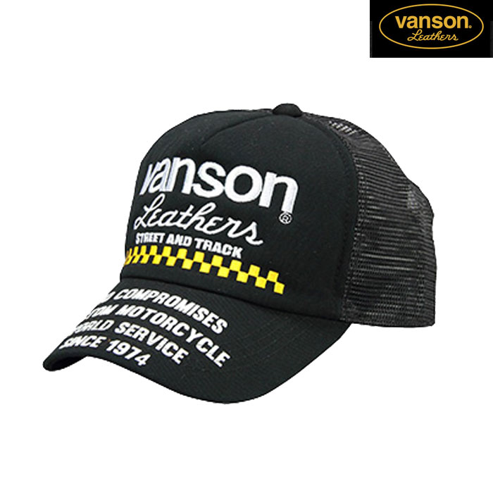 VANSON 〔WEB価格〕★新作★VS20703S メッシュキャップ 春夏用 ブラック/ブラック◆全3色◆
