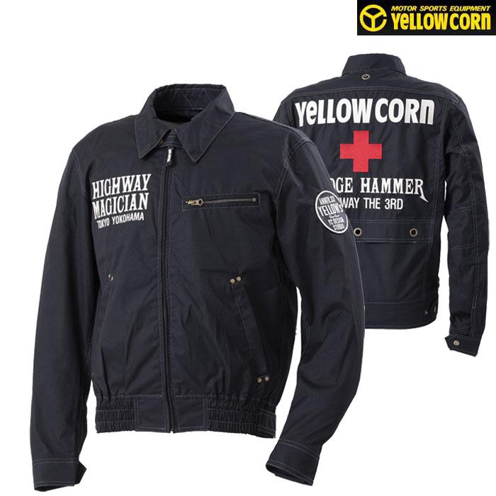 Yellow Corn YB-0100 コットンツイルジャケット ブラック◆全5色◆