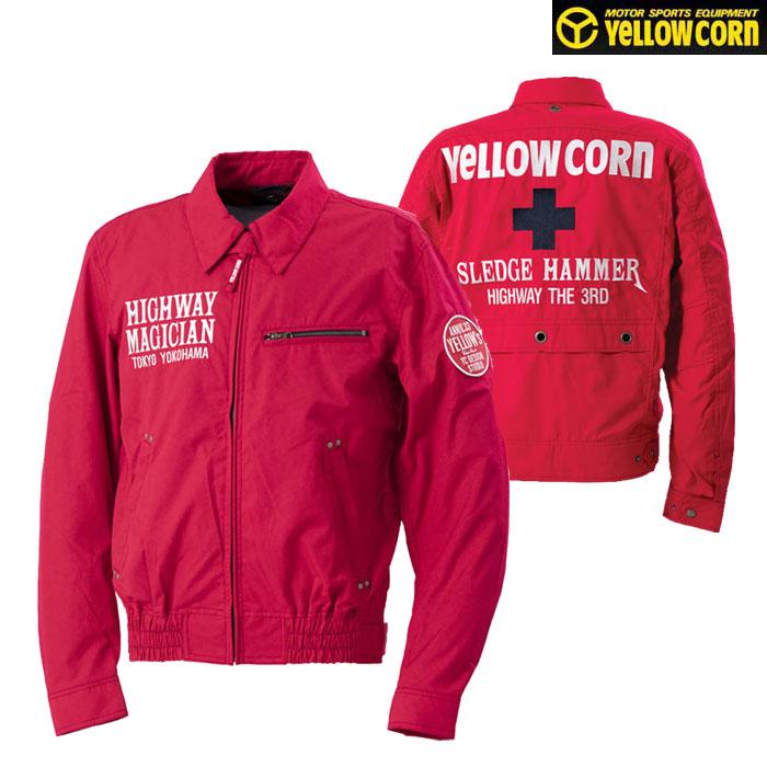 Yellow Corn 〔WEB価格〕★新作★YB-0100 コットンツイルジャケット レッド◆全5色◆