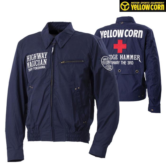 Yellow Corn 〔WEB価格〕★新作★YB-0100 コットンツイルジャケット ネイビー◆全5色◆