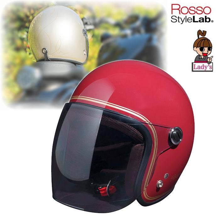 "J-AMBLE (レディース)ROH-506 ROSSOジェットヘルメット""CLASSIC"" ROSSO RED◆全3色◆"