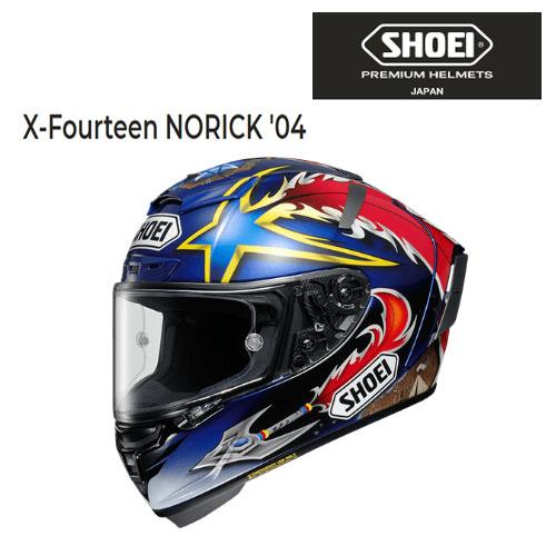 SHOEI ヘルメット 〔WEB価格〕 【5月発売予定】X-Fourteen NORICK '04【エックス フォーティーン ノリック'04】 フルフェイスヘルメット