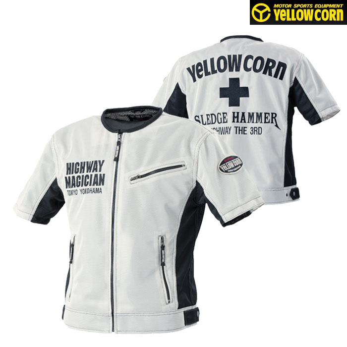 Yellow Corn YMT-001 プロテクティブメッシュTシャツ 春夏用 アイボリー◆全3色◆