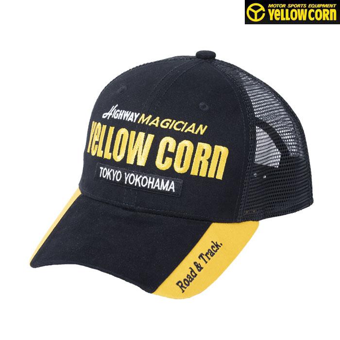 Yellow Corn YC-008 メッシュCAP ブラック/イエロー◆全3色◆