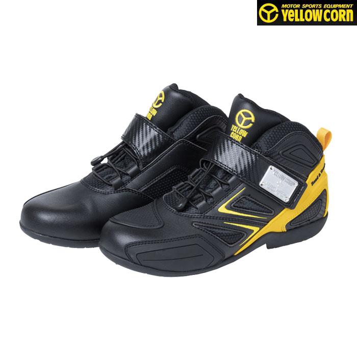Yellow Corn YS-001 ライディングシューズ ブラック/イエロー◆全3色◆