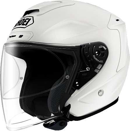 SHOEI ヘルメット 〔アウトレット品 化粧箱無し〕J-FORCE IV 【ジェイ-フォース フォー】ジェットヘルメット ルミナスホワイト