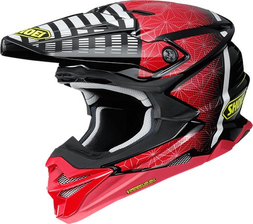 SHOEI ヘルメット 〔アウトレット品 化粧箱無し〕VFX-WR BLAZON【ブイエフエックス-ダブルアール ブラゾン】オフロードヘルメット  TC-1(RED/BLACK)