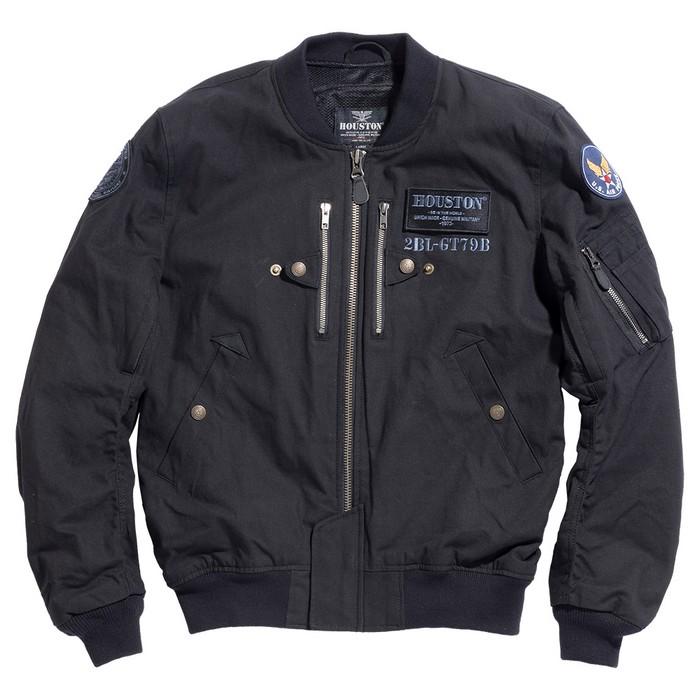 HOUSTON HTVA-2012SK KATANA MA-1 COTTON ジャケット ブラック◆全2色◆