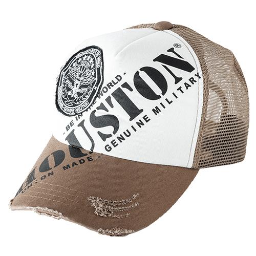 HOUSTON HTG-KW002 HT PRINT&WAPPEN MESH CAP ブラウン◆全4色◆