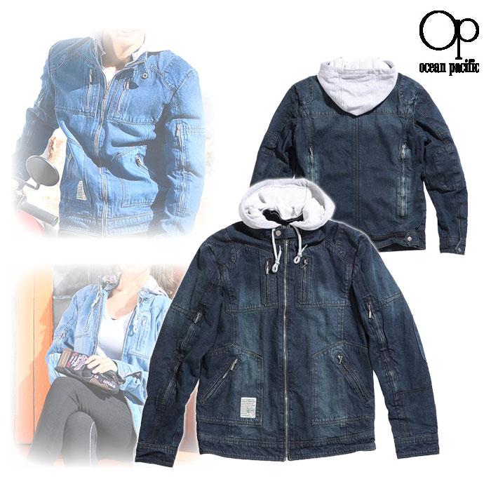 ocean pacific OPVA2001S DENIMシングルライダース M/C ジャケット ブラック◆全3色◆