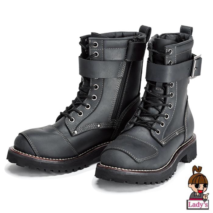SIERRA DESIGNS (レディース)SD5106 レディース 9ホールバイカーズブーツ ブラック◆全2色◆