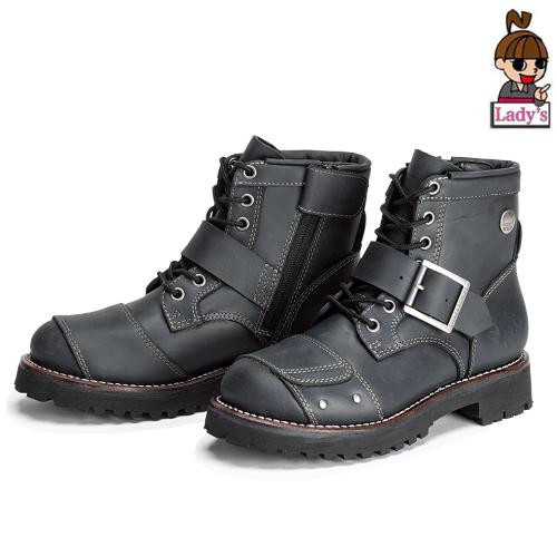 SIERRA DESIGNS (レディース)SD5105 レディース 7ホールバイカーズブーツ ブラック◆全2色◆