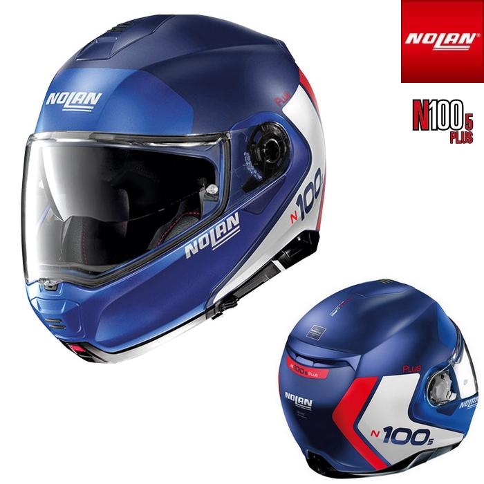 NOLAN NOLAN N1005 PLUS DISTINCTIVE フラットインペリアルブルー/29 フリップアップヘルメット