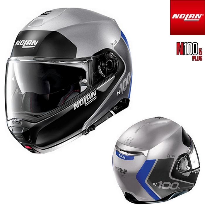 NOLAN NOLAN N1005 PLUS DISTINCTIVE フラットシルバー/30 フリップアップヘルメット