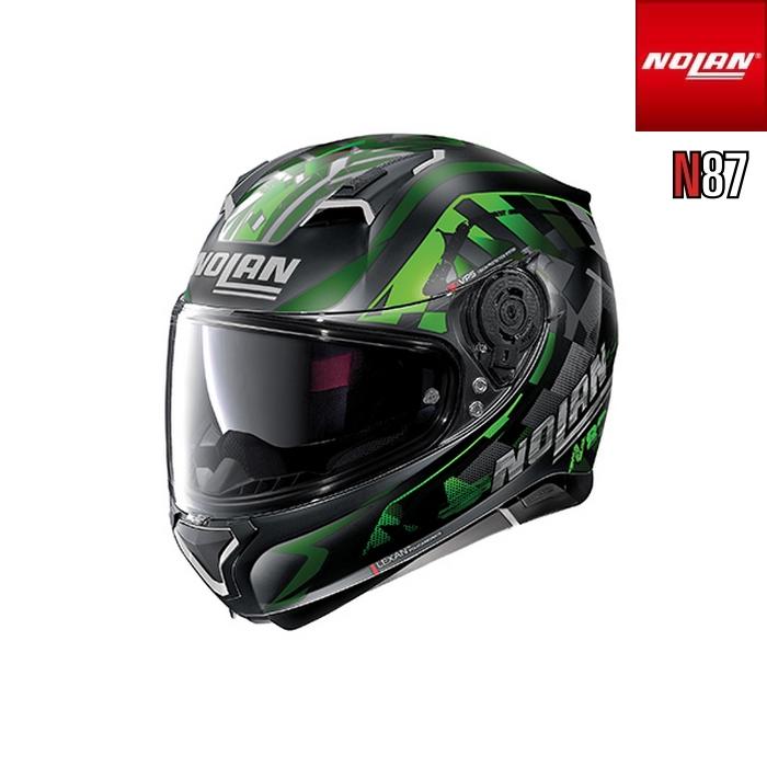 NOLAN NOLAN N87 ベナター フラットブラック グリーン/92 フルフェイスヘルメット