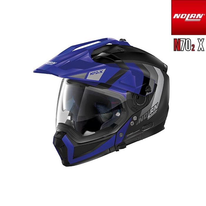 NOLAN NOLAN N702 X デクリオ フラットブラック/ブルー/32 アドベンチャークロスオーバーヘルメット