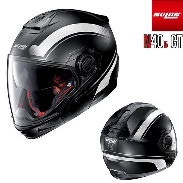 NOLAN NOLAN N405 GT リソリュート フラットブラック/ホワイト/20 マルチユースタイプヘルメット