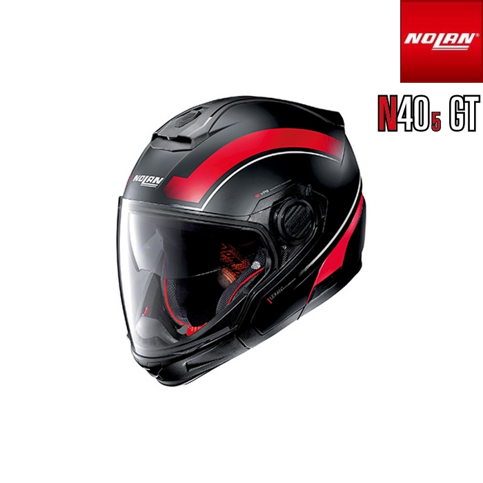 NOLAN NOLAN N405 GT リソリュート フラットブラック/レッド/21 マルチユースタイプヘルメット