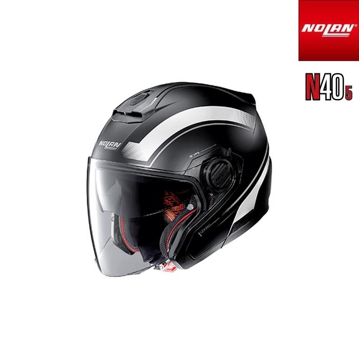 NOLAN NOLAN N405 リソリュート フラットブラック/ホワイト/16 ジェットヘルメット