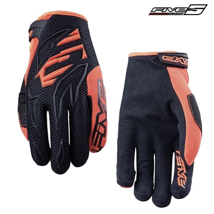 FIVE MXF3 モトクロスグローブ ブラックフローオレンジ ◆全5色◆