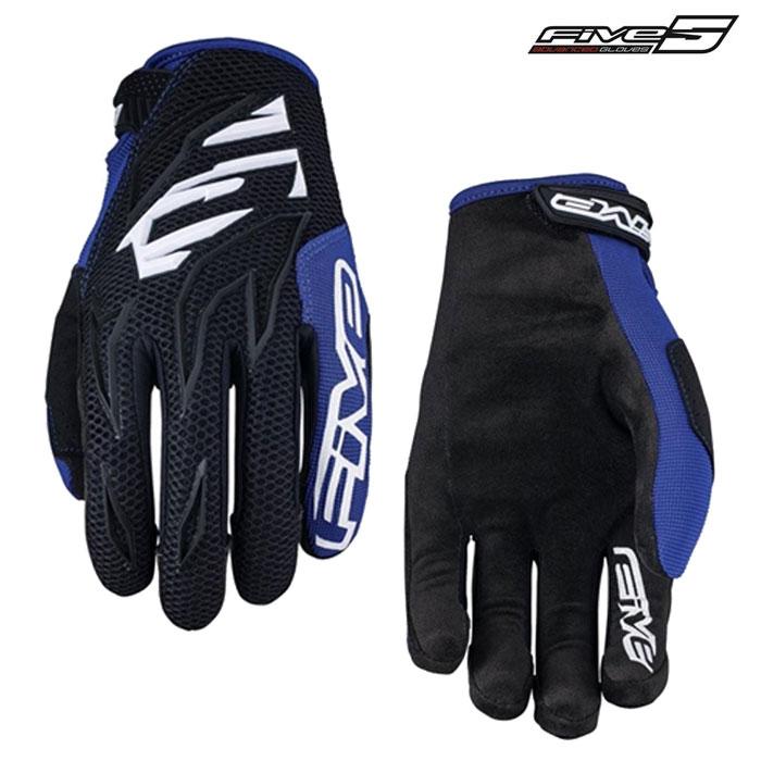 FIVE MXF3 モトクロスグローブ ブラックホワイトブルー ◆全5色◆