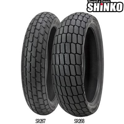 SHINKOタイヤ SR267-120/70-17 SOFT フロント/リア