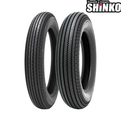 SHINKOタイヤ E270-4.00-18 フロント/リア