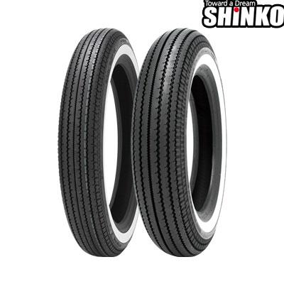 SHINKOタイヤ E270-4.00-18 W1 フロント/リア