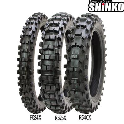 SHINKOタイヤ 〔WEB価格〕 R525X 90/100-16 リア