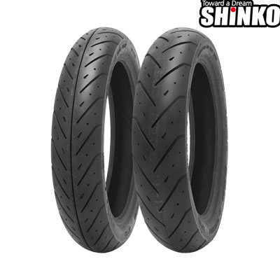 SHINKOタイヤ SR563/100/90-14 リア