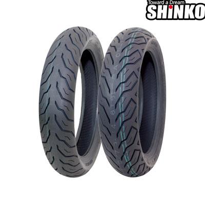 SHINKOタイヤ SR616 100/80-14/48P フロント