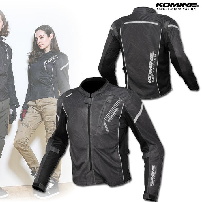 〔WEB価格〕JK-128 プロテクトフルメッシュジャケット ブラックマーブル ◆全10色◆
