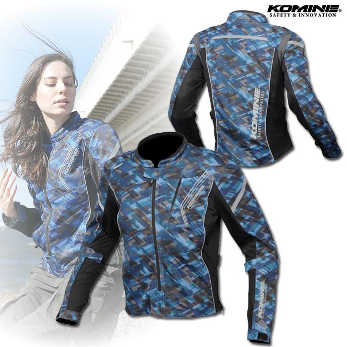 〔WEB価格〕★新作★ JK-128 プロテクトフルメッシュジャケット プラッドネイビー ◆全10色◆