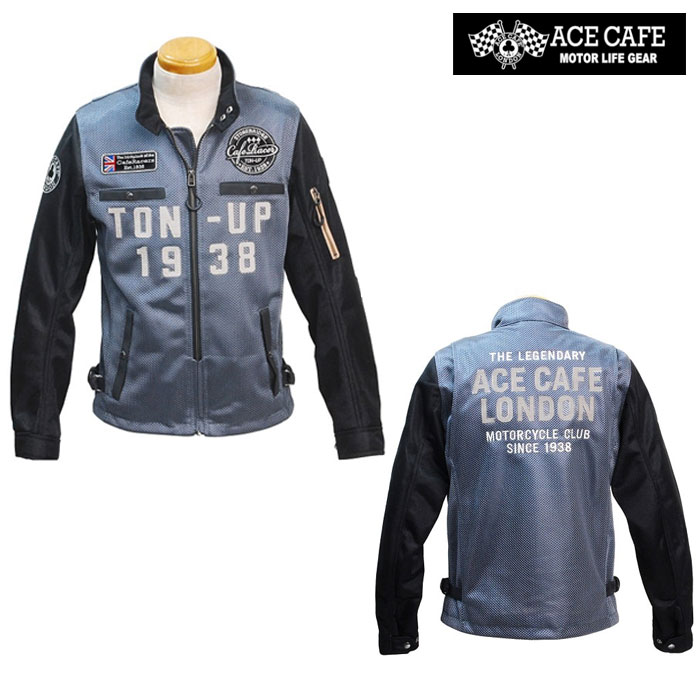 ACE CAFE LONDON 〔WEB価格〕★新作★ SS2004MJ-GY ストリートメッシュスウィングトップ ダークグレー ◆全3色◆