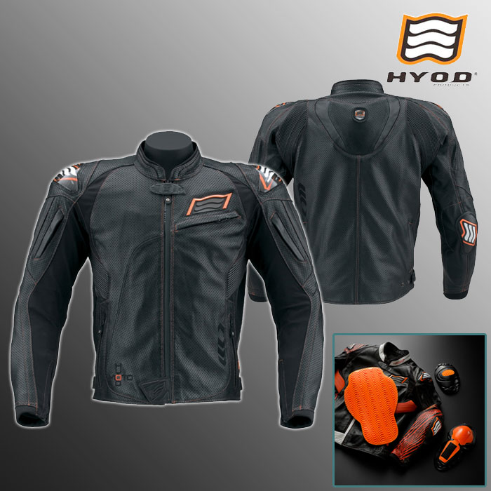 HYOD PRODUCTS HSL106SPD DEVAC SP D3O ST-X LEATHER JAC ジャケット BLACK/ORANGE STITCH◆全4色◆