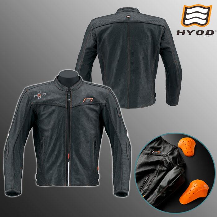 HYOD PRODUCTS HSL011DS IKUL D3O ST-X LEATHER JAC ジャケット BLACK/ORANGE STITCH◆全5色◆