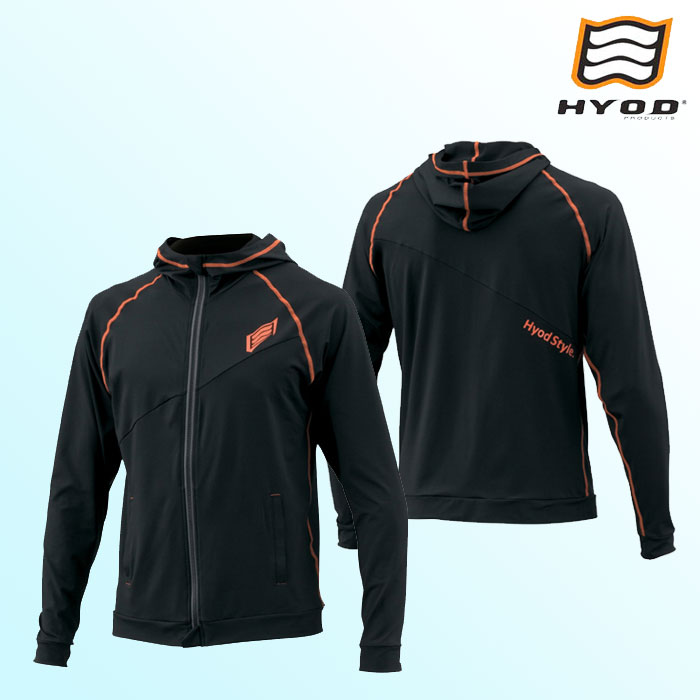 HYOD PRODUCTS STU111N HYOD RELAX RASH PARKA(LONG) BLACK/ORANGE STITCH◆全4色◆