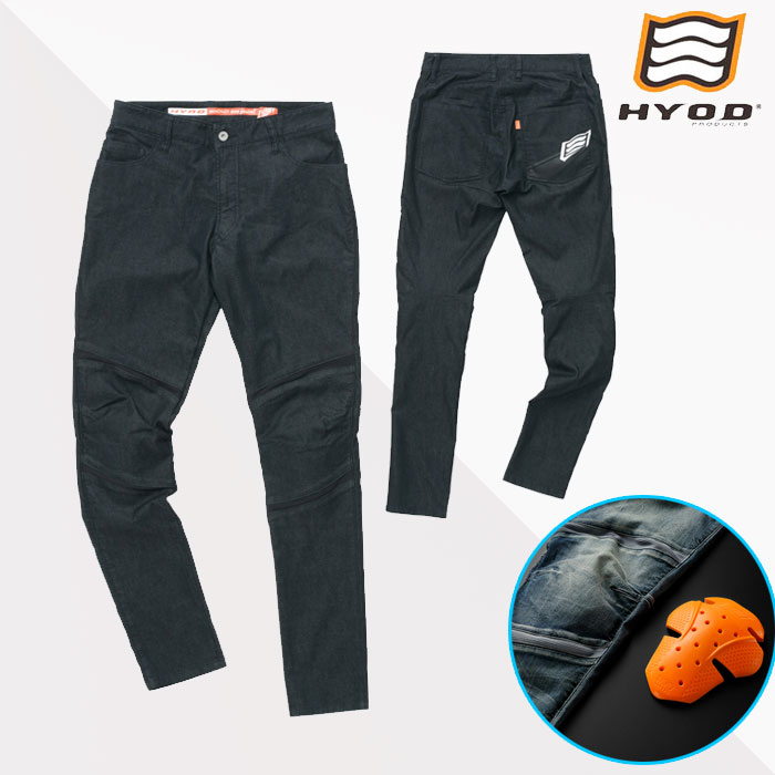 HYOD PRODUCTS HYD536D HYOD D3O BIKERS 3D PANTS BLACK(one-wash)◆全3色◆